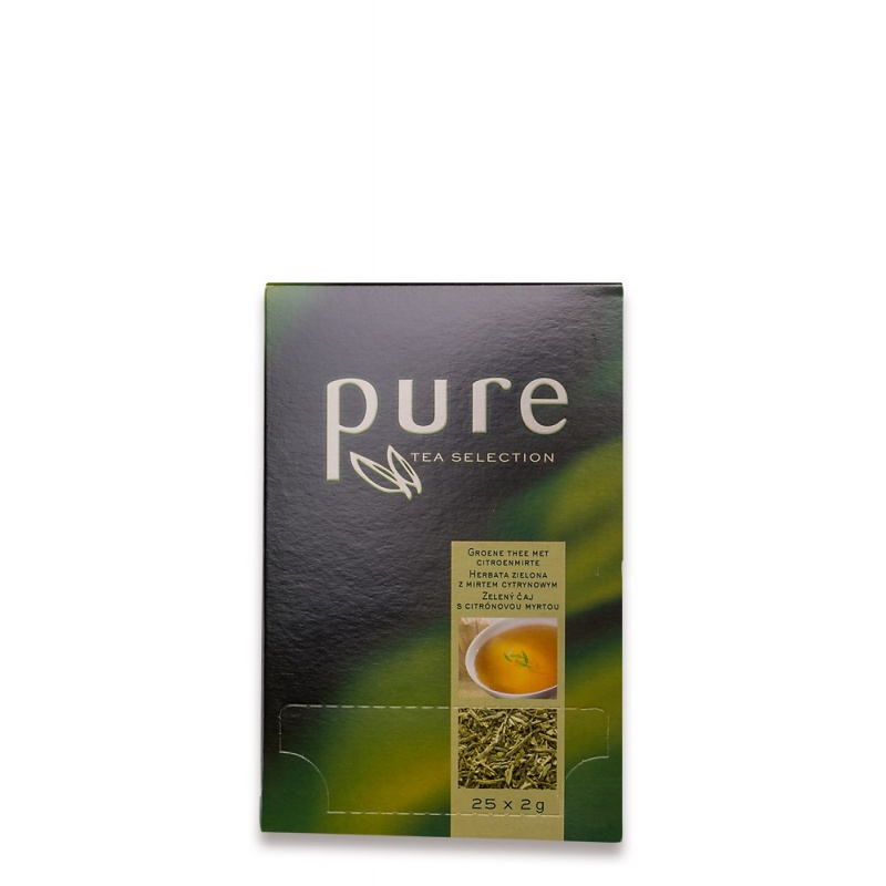pure tea selection gr ner tee mit lemon 25x2g 3 90 cob. Black Bedroom Furniture Sets. Home Design Ideas